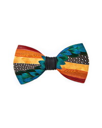 Brackish & Bell Bell Feather Bow Tie