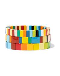 Roxanne Assoulin Brite Set Of Three Enamel Bracelets