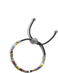 Classic chain bead bracelet with gemstone medium 465875