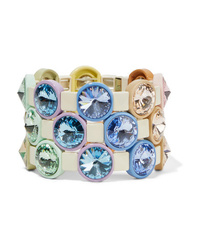Roxanne Assoulin Lite Set Of Three Enamel And Crystal Bracelets