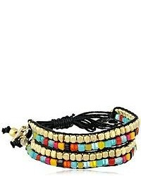Kenneth Cole New York Beaded Bracelets Multi Colored Bead 2 Row Adjustable Friendship Bracelet