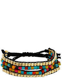 Kenneth Cole New York Multi Color Bead Two Row Friendship Bracelet