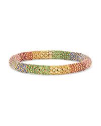 Carolina Bucci Twister Luxe 18 Karat Gold Multi Stone Bracelet