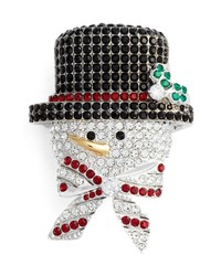 Nadri Jolly Snowman Pin