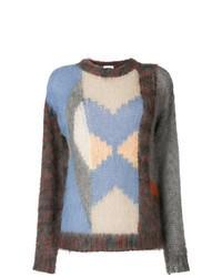 Multi colored Cable Sweater