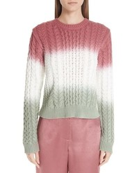 Sies Marjan Dip Dye Cable Knit Sweater