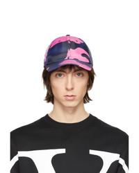 Valentino Navy And Pink Garavani Camo Baseball Cap