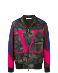 Valentino Logo Camouflage Print Jacket