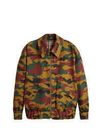 Burberry Ramie Cotton Reversible Harrington Jacket