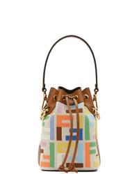 Fendi Multicolor Canvas Forever Mini Mon Tresor Bag