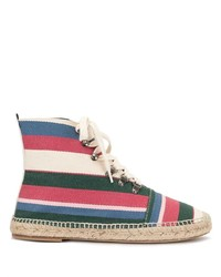 Loewe Striped Canvas Espadrille Boots