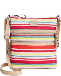 Multi colored Canvas Crossbody Bag