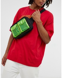 7X Svnx Cross Body Bag With Double Clear Plastic Pocket