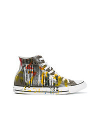 Multi colored Canvas High Top Sneakers