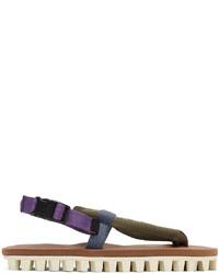 Suicoke Brown Gut Flip Flops