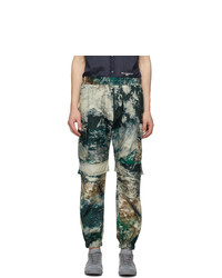 Stella McCartney Multicolor Earth Satellite Print Taylor Cargo Pants