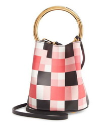 Marni Check Leather Bucket Bag