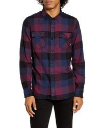 Vans Box Tailored Fit Button Up Flannel Shirt