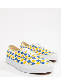 Multi colored Check Low Top Sneakers
