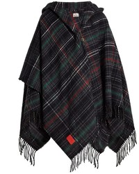 Anglomania tassel trimmed checked poncho medium 6793075