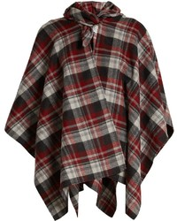 Checked poncho medium 6793076