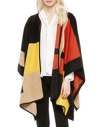 Vince Camuto Colorblocked Blanket Poncho
