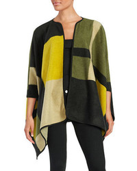 Vince Camuto Petite Colorblocked Blanket Poncho