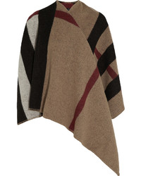 Prorsum checked wool and cashmere blend cape medium 344892