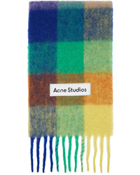 Acne Studios Multicolor Alpaca Mohair Large Check Scarf