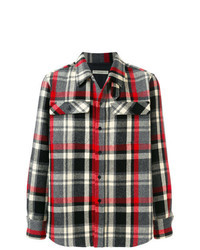 Multi colored Check Shirt Jacket