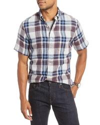 Fit Plaid Short Sleeve Sport Shirt