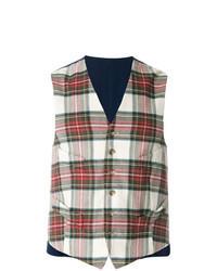 Multi colored Check Waistcoat