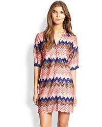 Mare chevron print shirt dress medium 102735