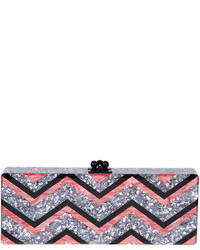 Flavia chevron confetti clutch bag multicolor medium 362323