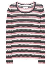 Isabel marant toile adelaide chevron cotton sweater medium 3649589