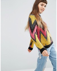 Asos Sweater With Tinsel Chevron