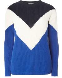 Tall chevron colourblock jumper medium 3649593