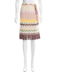 Missoni Knit Knee Length Skirt