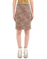 Missoni Chevron Knit Pencil Skirt