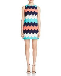 Aqua Chevron A Line Dress