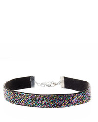 Natasha Accessories Multi Color Crystal Choker Necklace