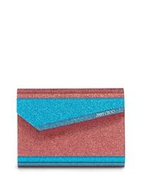 Jimmy Choo Candy Colorblock Glitter Clutch