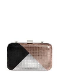 Color block mesh box clutch medium 8685236