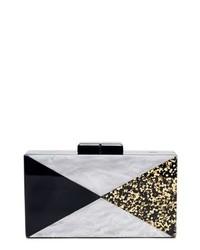 Glitter faux marble box clutch medium 8685617