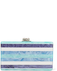 Jean striped acrylic box clutch medium 3638593