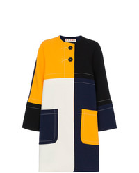 Marni Multicoloured Cocoon Patchwork Coat