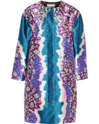 Peter Pilotto Printed Silk Twill Coat