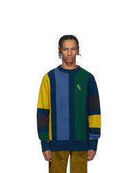 Aimé Leon Dore Blue Vertical Stripe Sweater
