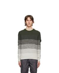 Stone Island Shadow Project Green Gradient Knit Sweater