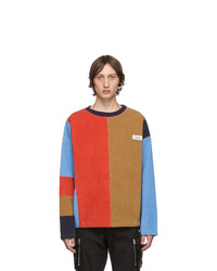 Kenzo Multicolor Corduory Patch Crewneck Sweater